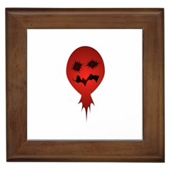 Evil Face Vector Illustration Framed Ceramic Tile