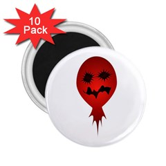 Evil Face Vector Illustration 2.25  Button Magnet (10 pack)