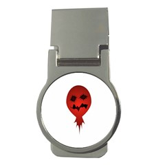 Evil Face Vector Illustration Money Clip (round)