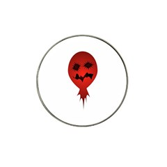 Evil Face Vector Illustration Golf Ball Marker (for Hat Clip)
