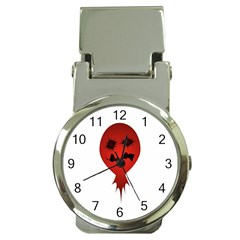 Evil Face Vector Illustration Money Clip With Watch