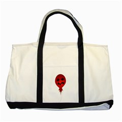 Evil Face Vector Illustration Two Toned Tote Bag