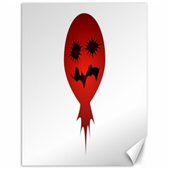 Evil Face Vector Illustration Canvas 18  x 24  (Unframed)
