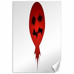 Evil Face Vector Illustration Canvas 20  x 30  (Unframed)