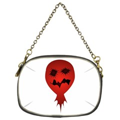 Evil Face Vector Illustration Chain Purse (two Sided)