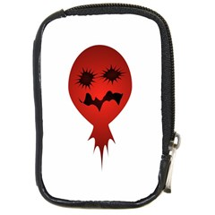 Evil Face Vector Illustration Compact Camera Leather Case