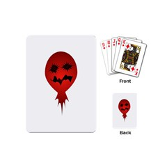 Evil Face Vector Illustration Playing Cards (mini)