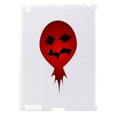 Evil Face Vector Illustration Apple Ipad 3/4 Hardshell Case (compatible With Smart Cover)