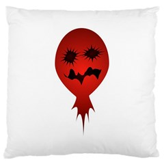 Evil Face Vector Illustration Large Cushion Case (Two Sided)