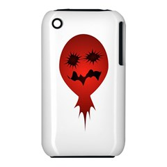 Evil Face Vector Illustration Apple iPhone 3G/3GS Hardshell Case (PC+Silicone)