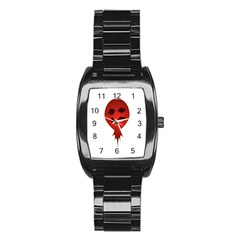 Evil Face Vector Illustration Stainless Steel Barrel Watch