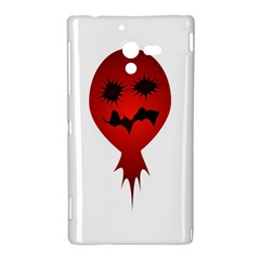 Evil Face Vector Illustration Sony Xperia ZL (L35H) Hardshell Case