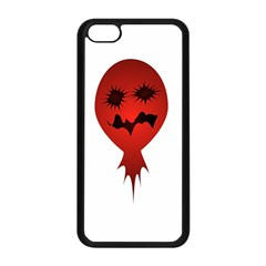Evil Face Vector Illustration Apple Iphone 5c Seamless Case (black)