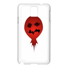 Evil Face Vector Illustration Samsung Galaxy Note 3 N9005 Case (White)
