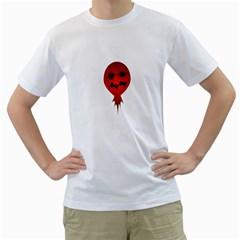 Evil Face Vector Illustration Men s T-Shirt (White)