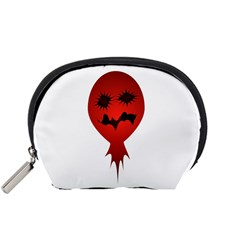 Evil Face Vector Illustration Accessory Pouch (small)
