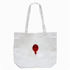 Evil Face Vector Illustration Tote Bag (white)
