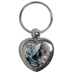 Feeling Blue Key Chain (Heart)