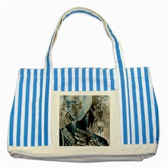 Feeling Blue Blue Striped Tote Bag