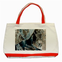 Feeling Blue Classic Tote Bag (red)