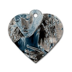Feeling Blue Dog Tag Heart (two Sided)