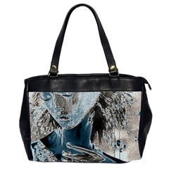 Feeling Blue Oversize Office Handbag (two Sides)