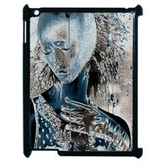 Feeling Blue Apple iPad 2 Case (Black)