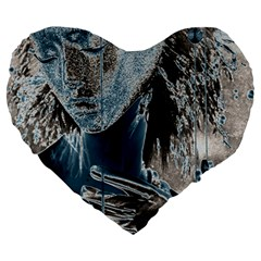 Feeling Blue 19  Premium Heart Shape Cushion