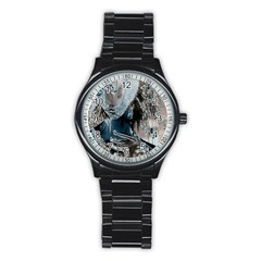Feeling Blue Sport Metal Watch (black)