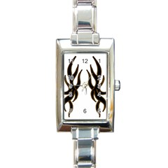 Dancing Fire Rectangular Italian Charm Watch