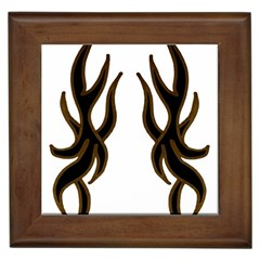 Dancing Fire Framed Ceramic Tile