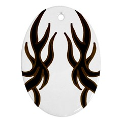 Dancing Fire Oval Ornament