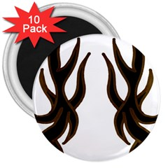 Dancing Fire 3  Button Magnet (10 pack)