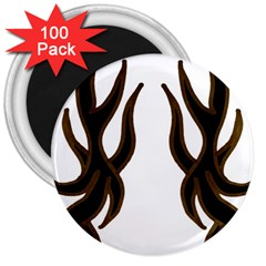 Dancing Fire 3  Button Magnet (100 Pack)