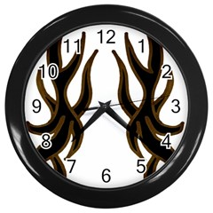 Dancing Fire Wall Clock (black)
