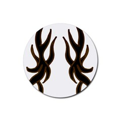 Dancing Fire Drink Coaster (round)