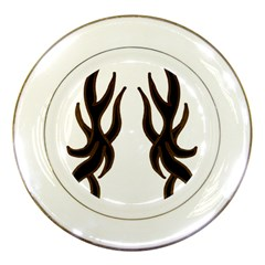 Dancing Fire Porcelain Display Plate
