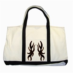 Dancing Fire Two Toned Tote Bag