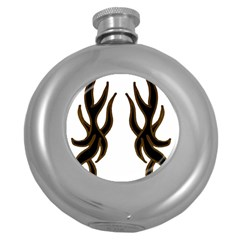 Dancing Fire Hip Flask (Round)