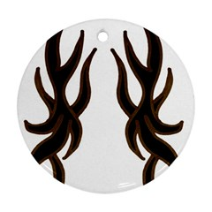 Dancing Fire Round Ornament (Two Sides)
