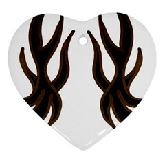 Dancing Fire Heart Ornament (Two Sides)