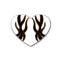 Dancing Fire Drink Coasters (heart)