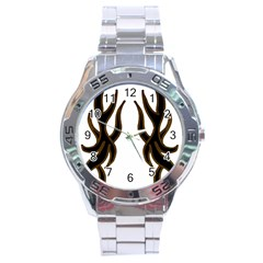 Dancing Fire Stainless Steel Watch