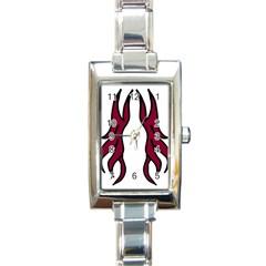 Dancing Fire 2 Rectangular Italian Charm Watch