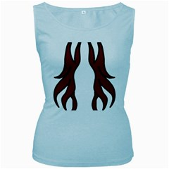 Dancing Fire 2 Women s Tank Top (baby Blue)