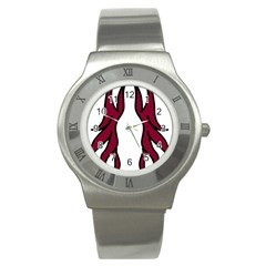 Dancing Fire 2 Stainless Steel Watch (slim)