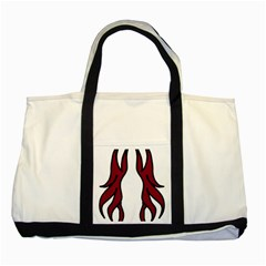 Dancing Fire 2 Two Toned Tote Bag