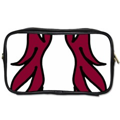 Dancing Fire 2 Travel Toiletry Bag (two Sides)