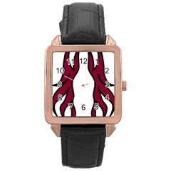 Dancing Fire 2 Rose Gold Leather Watch