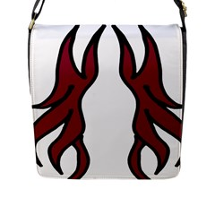 Dancing Fire 2 Flap Closure Messenger Bag (Large)